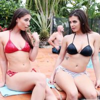 Aidra Fox & Keisha Grey bikini babes threesome